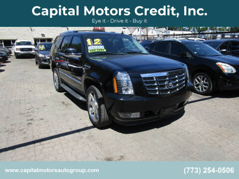 2012 Cadillac Escalade for sale at Capital Motors Credit, Inc. in Chicago IL