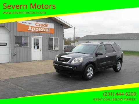 2011 GMC Acadia for sale at Severn Motors in Cadillac MI