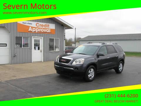 2011 GMC Acadia for sale at Severn Motors in Cadillac MI