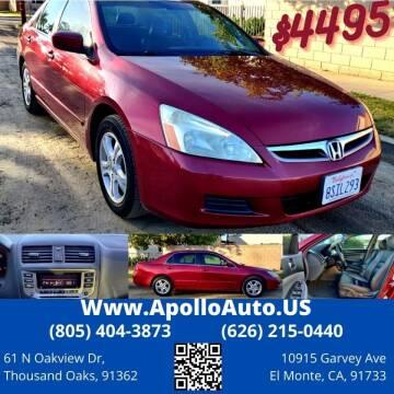 2006 Honda Accord for sale at Apollo Auto El Monte in El Monte CA