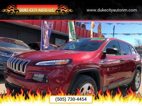 2017 Jeep Cherokee for sale at Duke City Auto LLC in Gallup NM