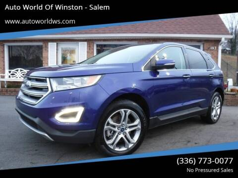 2015 Ford Edge for sale at Auto World Of Winston - Salem in Winston Salem NC