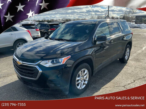 2018 Chevrolet Traverse for sale at Paris Auto Sales & Service in Big Rapids MI