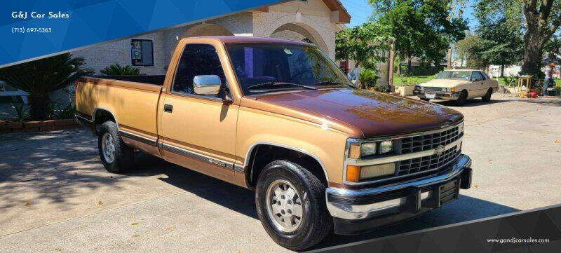 1989 Chevrolet C/K 1500 Series for sale at G&J Car Sales in Houston TX