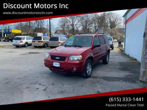 2005 Ford Escape for sale at Discount Motors Inc in Nashville TN