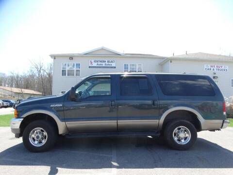2000 Ford Excursion for sale at SOUTHERN SELECT AUTO SALES in Medina OH