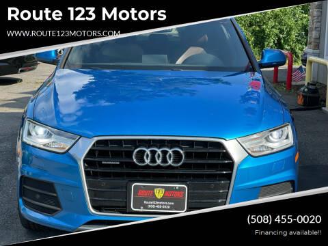 2016 Audi Q3 for sale at Route 123 Motors in Norton MA