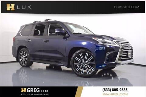 2019 Lexus LX 570 for sale at HGREG LUX EXCLUSIVE MOTORCARS in Pompano Beach FL