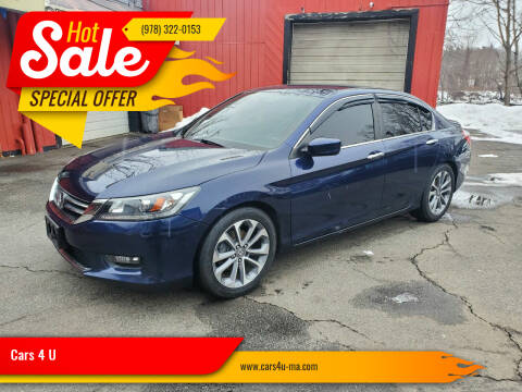 2015 Honda Accord for sale at Cars 4 U in Haverhill MA