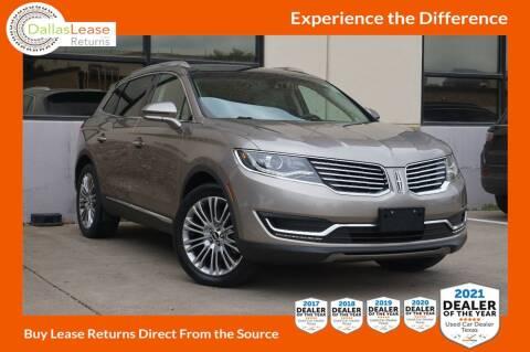 2018 Lincoln MKX for sale at Dallas Auto Finance in Dallas TX