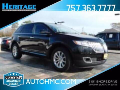2013 Lincoln MKX for sale at Heritage Motor Company in Virginia Beach VA