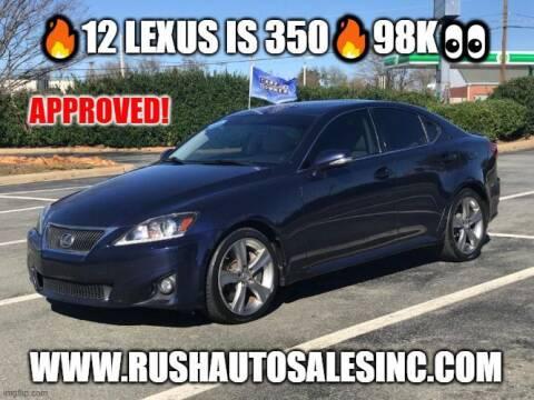2012 Lexus IS 350 for sale at RUSH AUTO SALES in Burlington NC