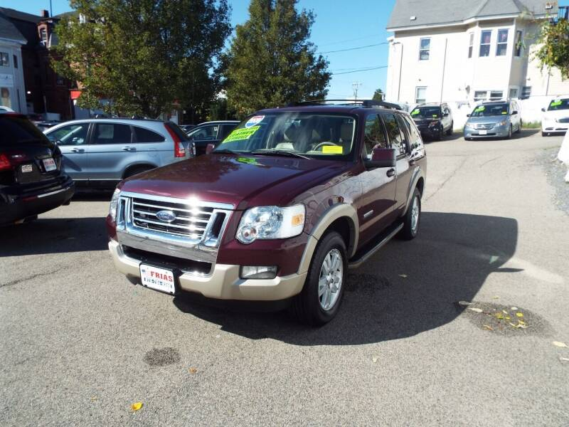 2008 Ford Explorer for sale at FRIAS AUTO SALES LLC in Lawrence MA