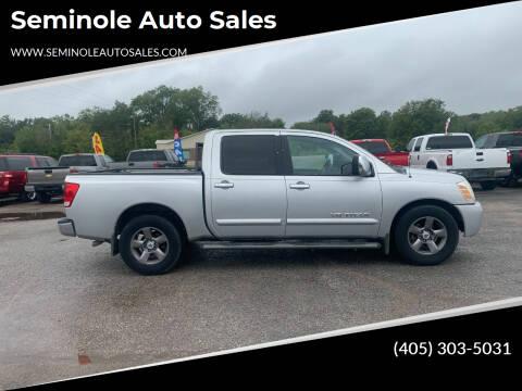 2005 Nissan Titan for sale at Seminole Auto Sales in Seminole OK