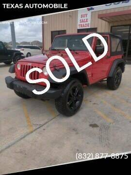 2009 Jeep Wrangler for sale at TEXAS AUTOMOBILE in Houston TX