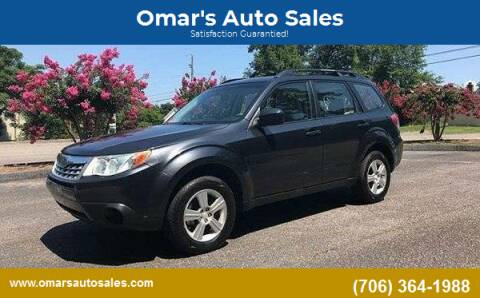 2011 Subaru Forester for sale at Omar's Auto Sales in Martinez GA