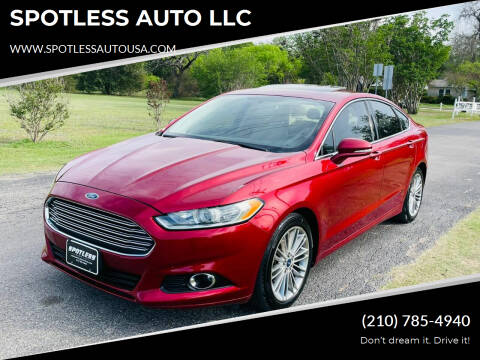 2014 Ford Fusion for sale at SPOTLESS AUTO LLC in San Antonio TX