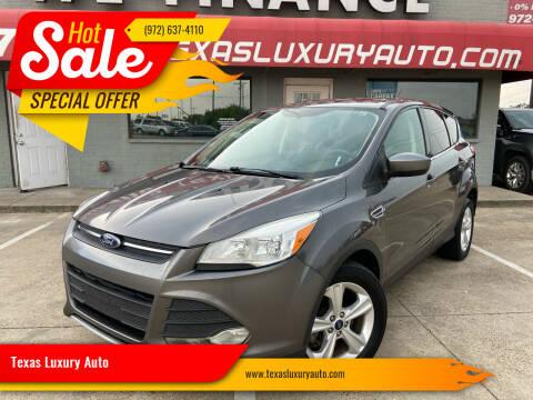 2014 Ford Escape for sale at Texas Luxury Auto in Cedar Hill TX