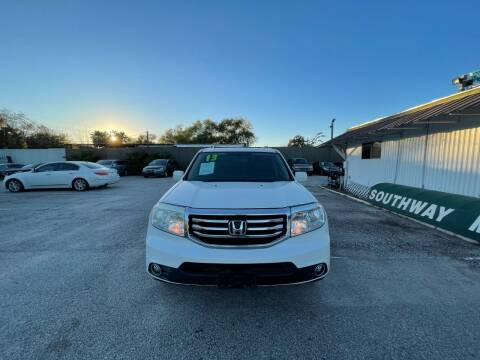 2013 Honda Pilot for sale at SOUTHWAY MOTORS in Houston TX