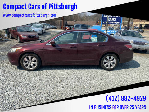 2008 Honda Accord for sale at Compact Cars of Pittsburgh in Pittsburgh PA