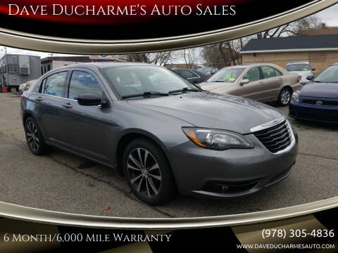 2011 Chrysler 200 for sale at Dave Ducharme's Auto Sales in Lowell MA