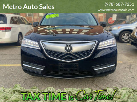 2016 Acura MDX for sale at Metro Auto Sales in Lawrence MA