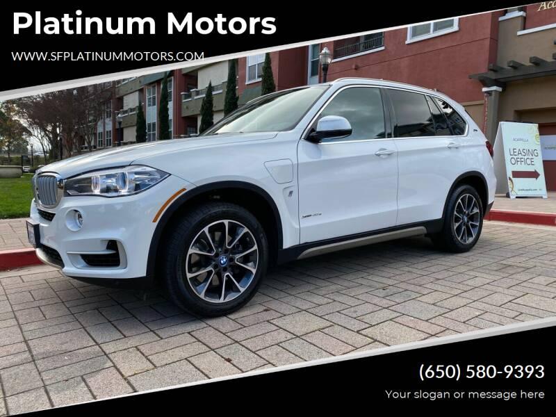 2018 BMW X5 for sale at Platinum Motors in San Bruno CA