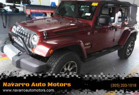 2009 Jeep Wrangler Unlimited for sale at Navarro Auto Motors in Hialeah FL