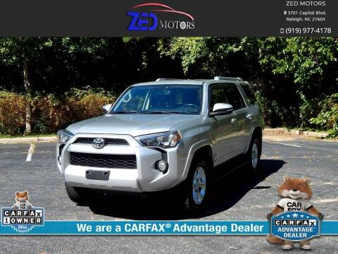 2015 Toyota 4Runner for sale at Zed Motors in Raleigh NC