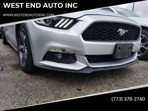 2015 Ford Mustang for sale at WEST END AUTO INC in Chicago IL