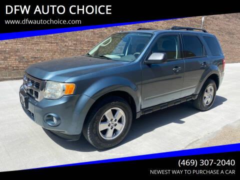 2010 Ford Escape for sale at DFW AUTO CHOICE in Dallas TX