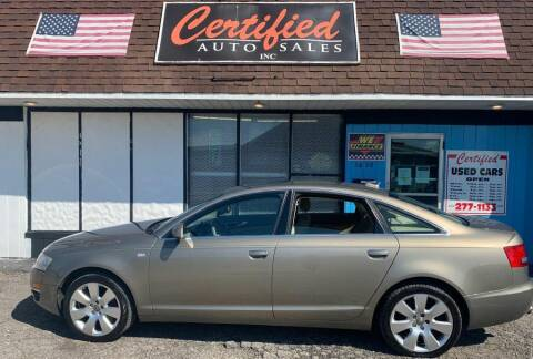 2006 Audi A6 for sale at Certified Auto Sales, Inc in Lorain OH
