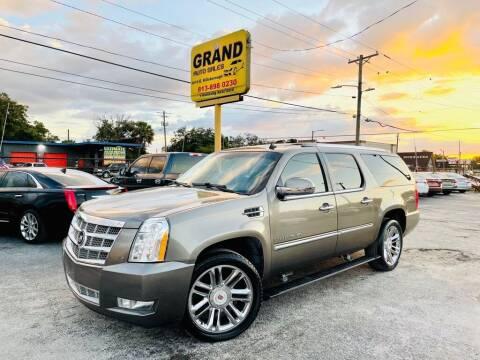 2012 Cadillac Escalade ESV for sale at Grand Auto Sales in Tampa FL