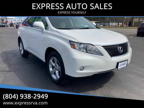 2011 Lexus RX 350 for sale at EXPRESS AUTO SALES in Midlothian VA