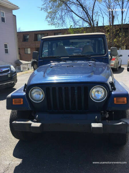 2002 Jeep Wrangler Sport for sale at USA Motors in Revere MA