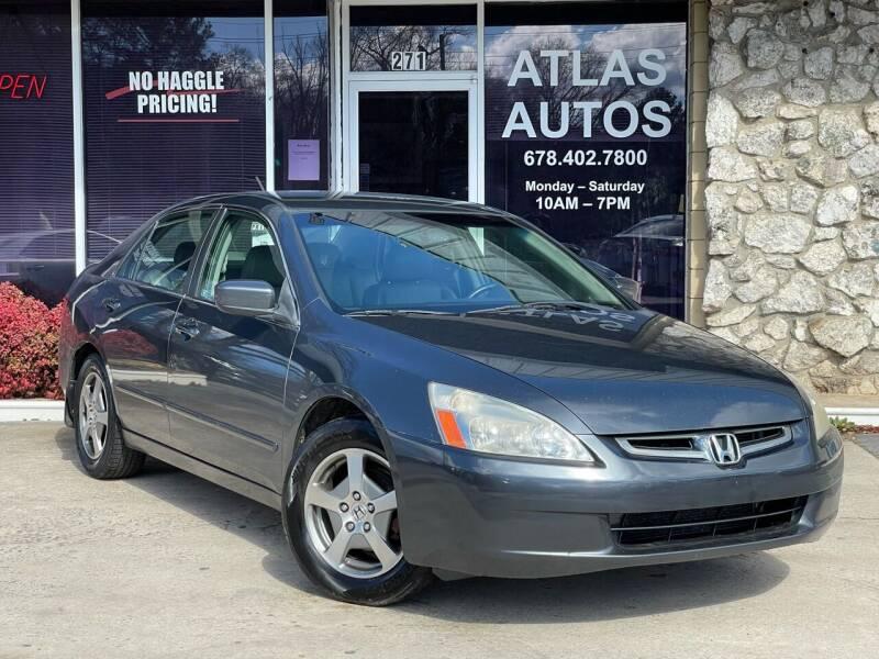 2005 Honda Accord for sale at ATLAS AUTOS in Marietta GA