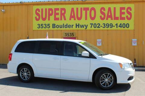 2016 Dodge Grand Caravan for sale at Super Auto Sales in Las Vegas NV