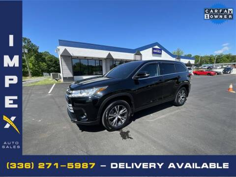 2019 Toyota Highlander for sale at Impex Auto Sales in Greensboro NC