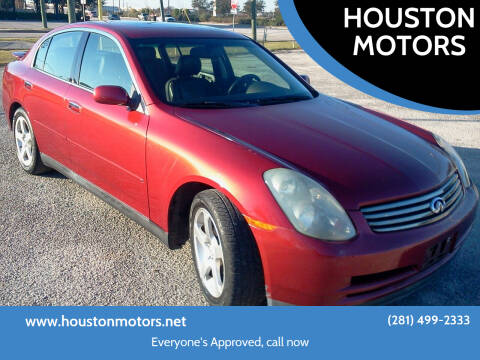 2003 Infiniti G35 for sale at HOUSTON MOTORS in Stafford TX