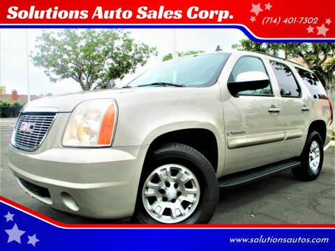 2008 GMC Yukon for sale at Solutions Auto Sales Corp. in Orange CA