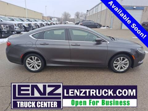 2015 Chrysler 200 for sale at LENZ TRUCK CENTER in Fond Du Lac WI