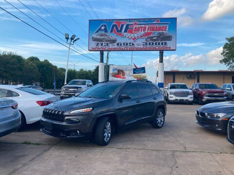 2018 Jeep Cherokee for sale at ANF AUTO FINANCE in Houston TX