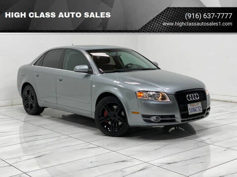2007 Audi A4 for sale at HIGH CLASS AUTO SALES in Rancho Cordova CA