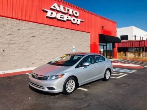 2012 Honda Civic for sale at Auto Depot of Smyrna in Smyrna TN