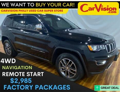 2017 Jeep Grand Cherokee for sale at Car Vision Mitsubishi Norristown - Car Vision Philly Used Car SuperStore in Philadelphia PA