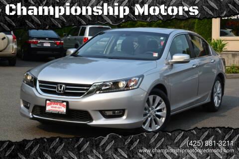 2013 Honda Accord for sale at Championship Motors in Redmond WA