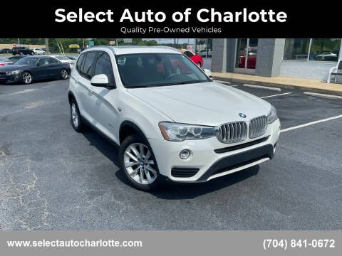 2016 BMW X3 for sale at Select Auto of Charlotte in Matthews NC