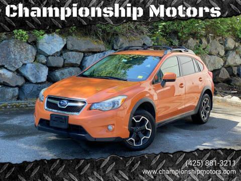 2014 Subaru XV Crosstrek for sale at Championship Motors in Redmond WA