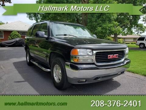 2001 GMC Yukon for sale at HALLMARK MOTORS LLC in Boise ID