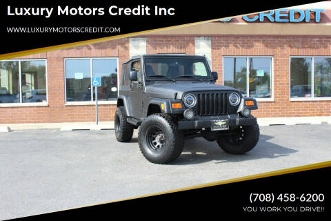 2003 Jeep Wrangler for sale at Luxury Motors Credit Inc in Bridgeview IL